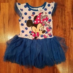 Girls Disney Minnie Mouse tulle dress size 4